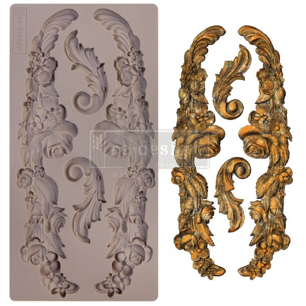 """Redesign Decor Moulds® - Delicate Floral Strands - 1 pc, 5""""x10"""", 8mm thickness"""