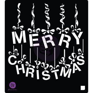 Stencil A Victorian Christmas: Ornament Letters - 1 pc