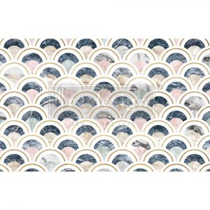 """Decoupage Decor Tissue Paper - Marbled Scales - 1 sheet, 19""""x30"""""""