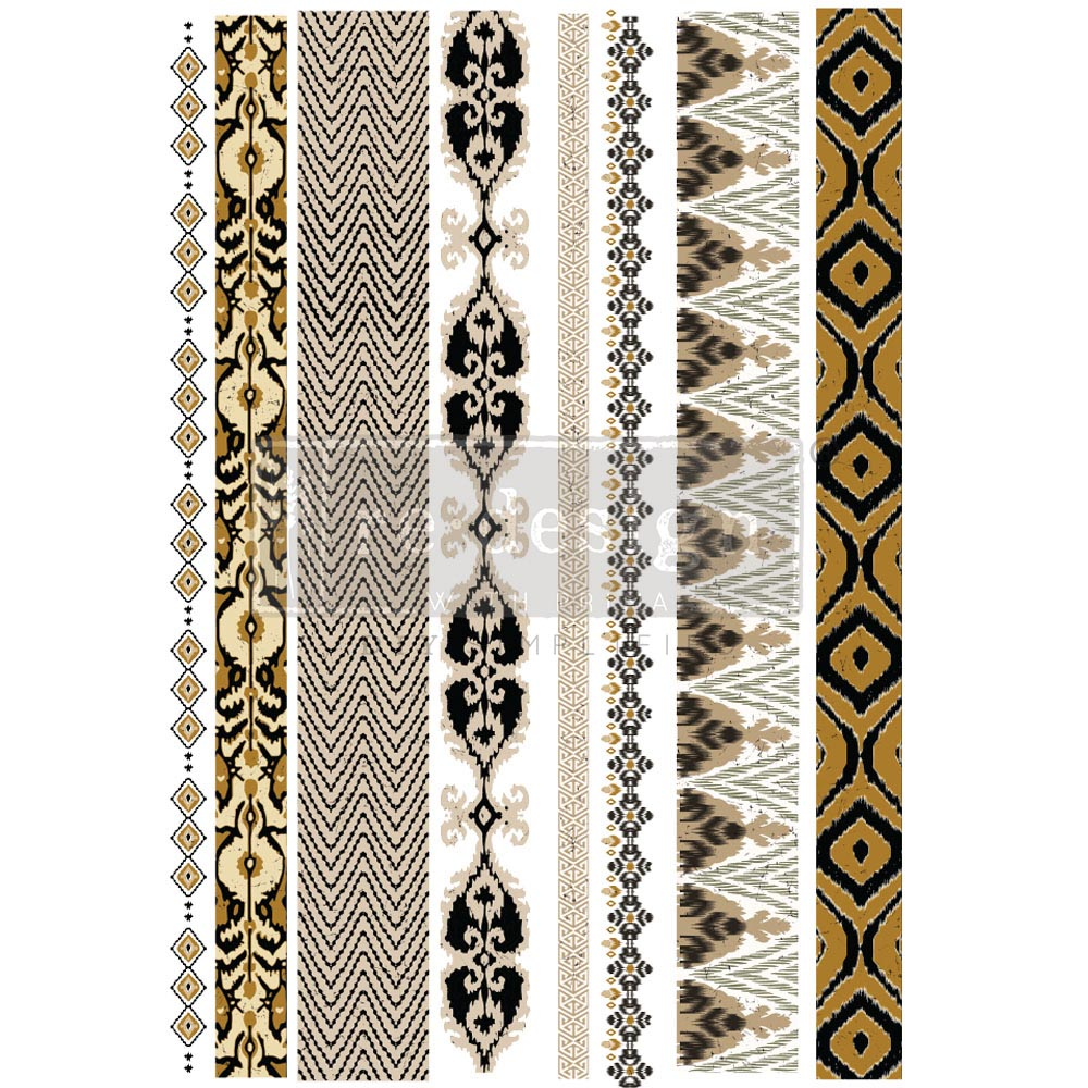 """Decor Transfers® - Exotic Borders - total sheet size 24""""x35"""", cut into 2 sheets"""