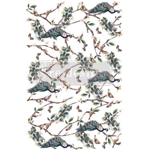 "Decor Transfers® - Avian Sanctuary - total sheet size 24""x35"", cut into 2 sheets"