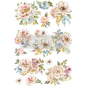"""Decor Transfers® - Sun Kissed - total sheet size 24""""x35"""", cut into 3 sheets"""