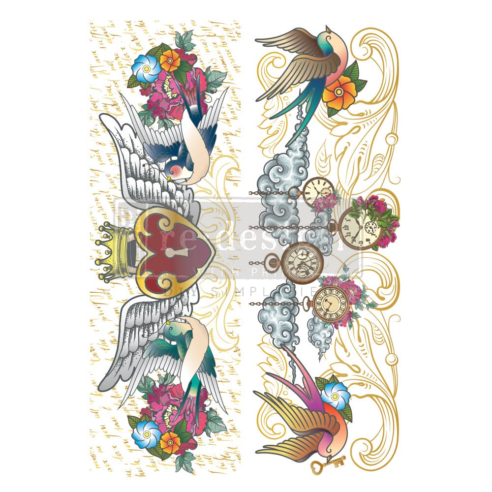 """Decor Transfers® CeCe - Hey Sailor - total sheet size 24""""x35"""", cut into 2 sheets"""