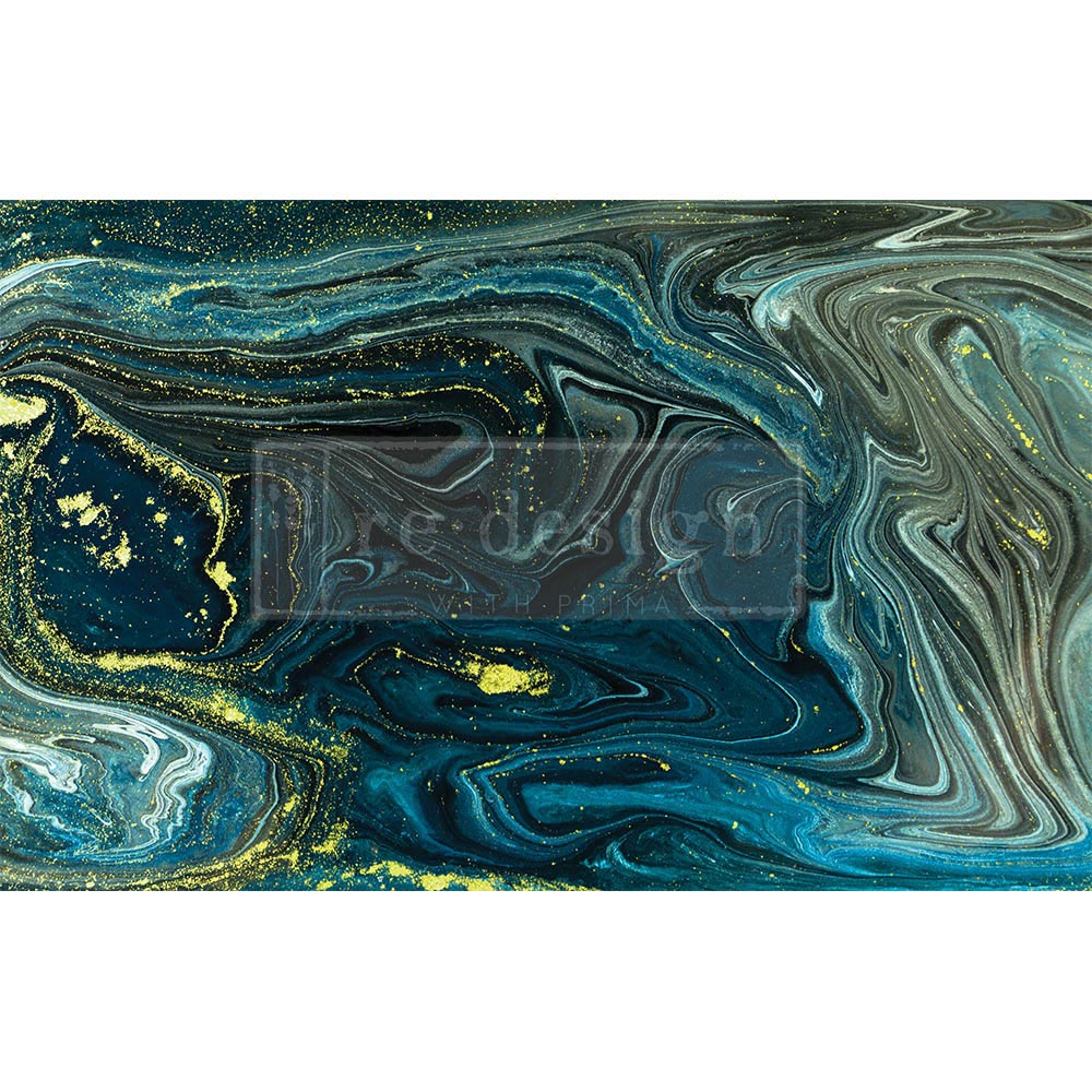 "Decoupage Decor Tissue Paper - Nocturnal Marble - 1 sheet, 19""x30"""