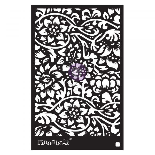 """Finnabair Stencil - Bindweed Wallpaper - 1 piece, 6""""x9"""""""