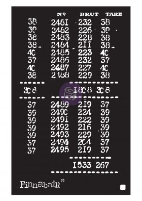 "Finnabair Stencil - Book Of Numbers - 1 piece, 6""x9"""