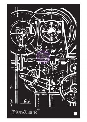 """Finnabair Stencil - Machinery - 1 piece, 6""""x9"""""""